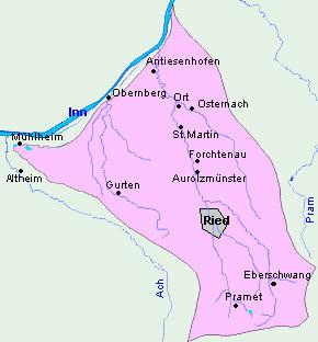 Revierkarte Antiesen-Gurtenbach