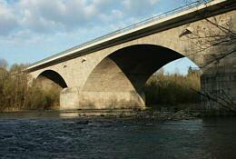 Autobahnbrücke über der Enns