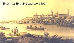 Ennsbrücke um 1800