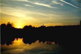 Ennsfluss beim Sonnenuntergang