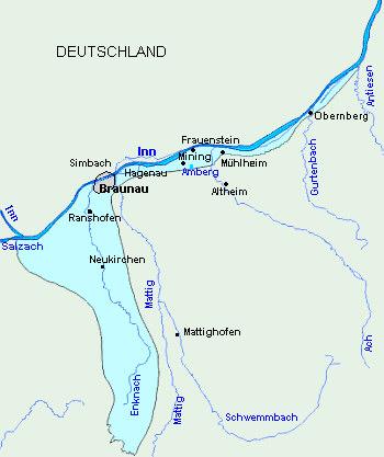 Revierkarte Inn-Braunau