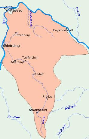 Revierkarte Inn-Pram-Kösselbach