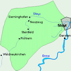 Revierkarte Steyr 3