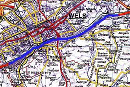 Untere Traun Wels Karte
